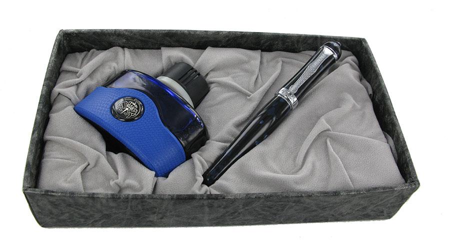 Duke-Mentor-Dark-Bluein-box-with-ink